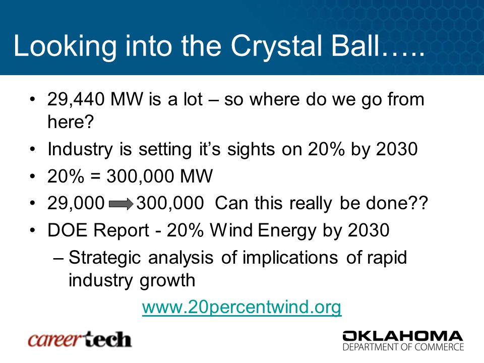 Looking into the Crystal Ball….. 29,440 MW is a lot – so where do we go from here.