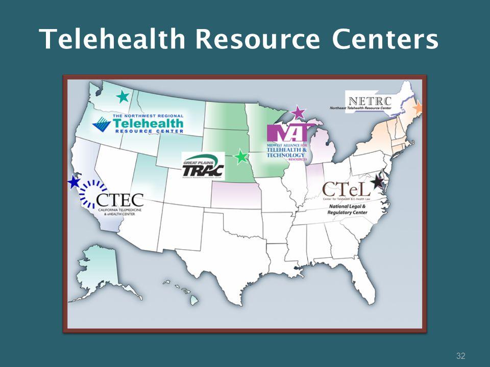32 Telehealth Resource Centers