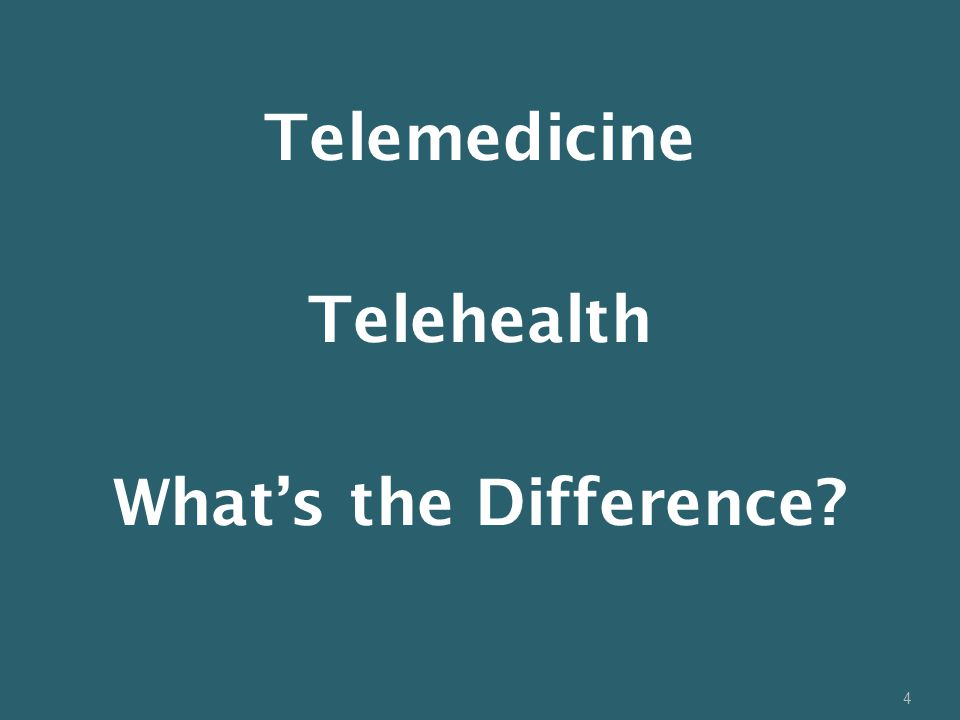 4 Telemedicine Telehealth What's the Difference?
