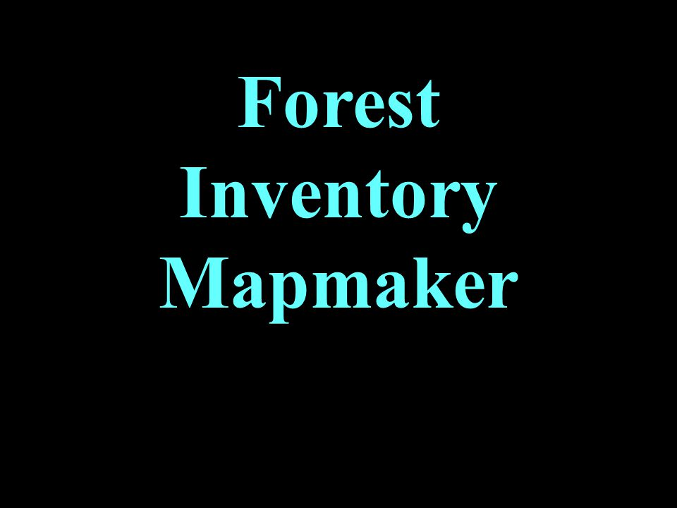 Forest Inventory Mapmaker