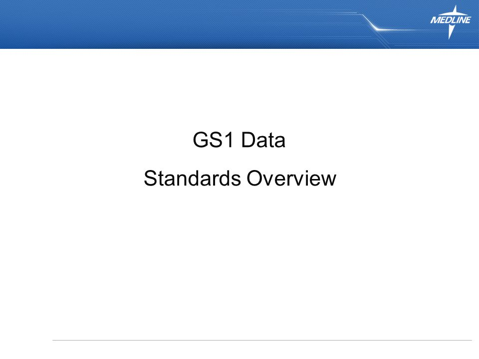 1 GS1 Data Standards Overview