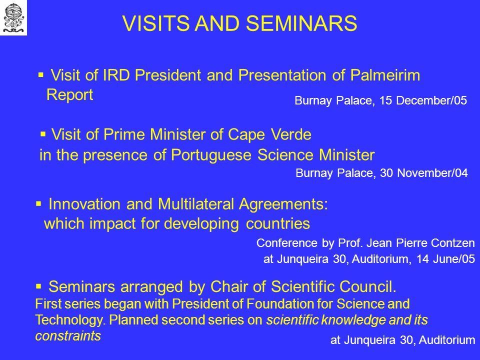  Seminars arranged by Chair of Scientific Council.