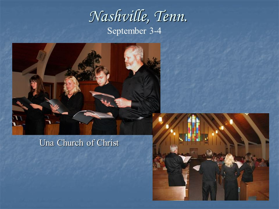The Spiritual Music Ensemble is so refreshing because they sing songs loaded with meaning and appropriate music.
