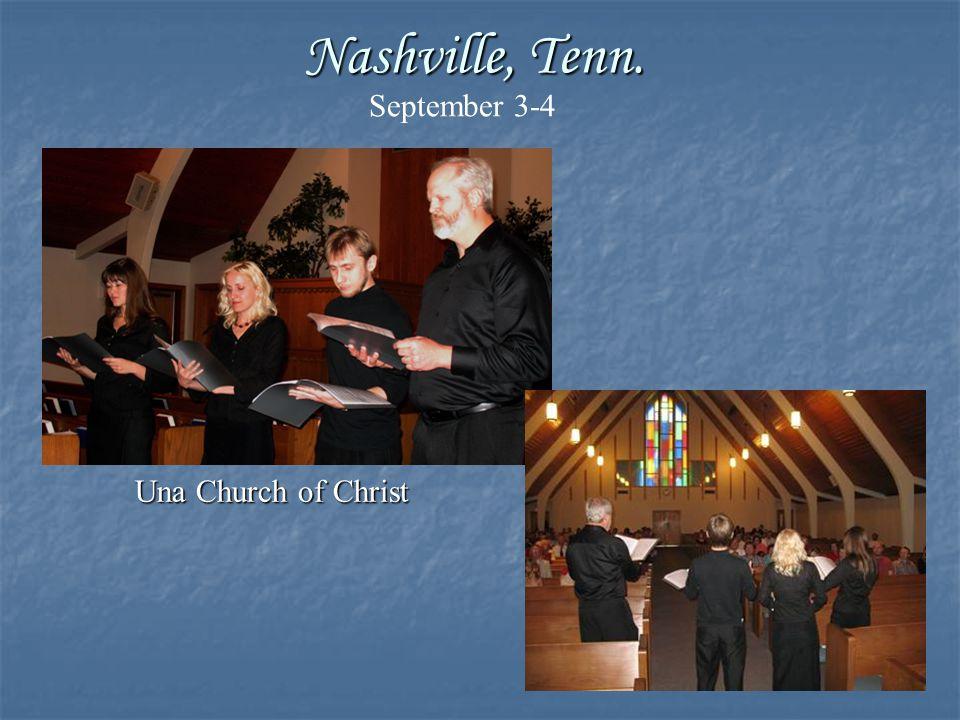 Richland Hills Church of Christ Ft. Worth, Texas September 23