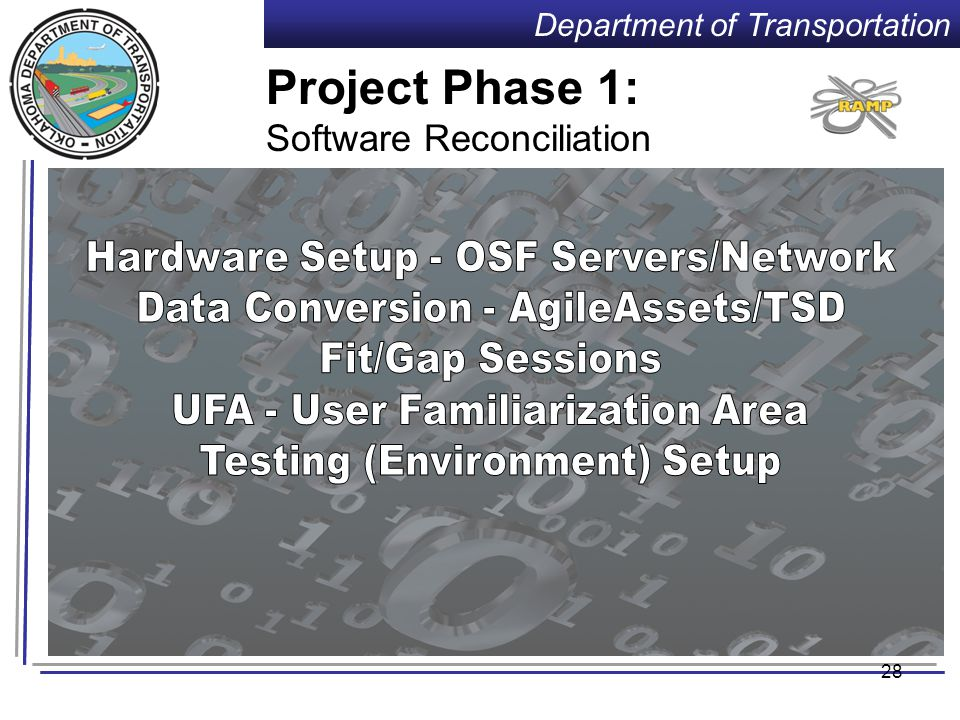 Department of Transportation Project Approach