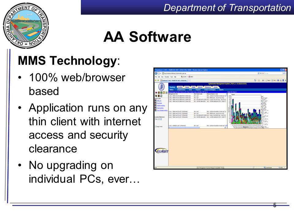 Department of Transportation AgileAssets Framework