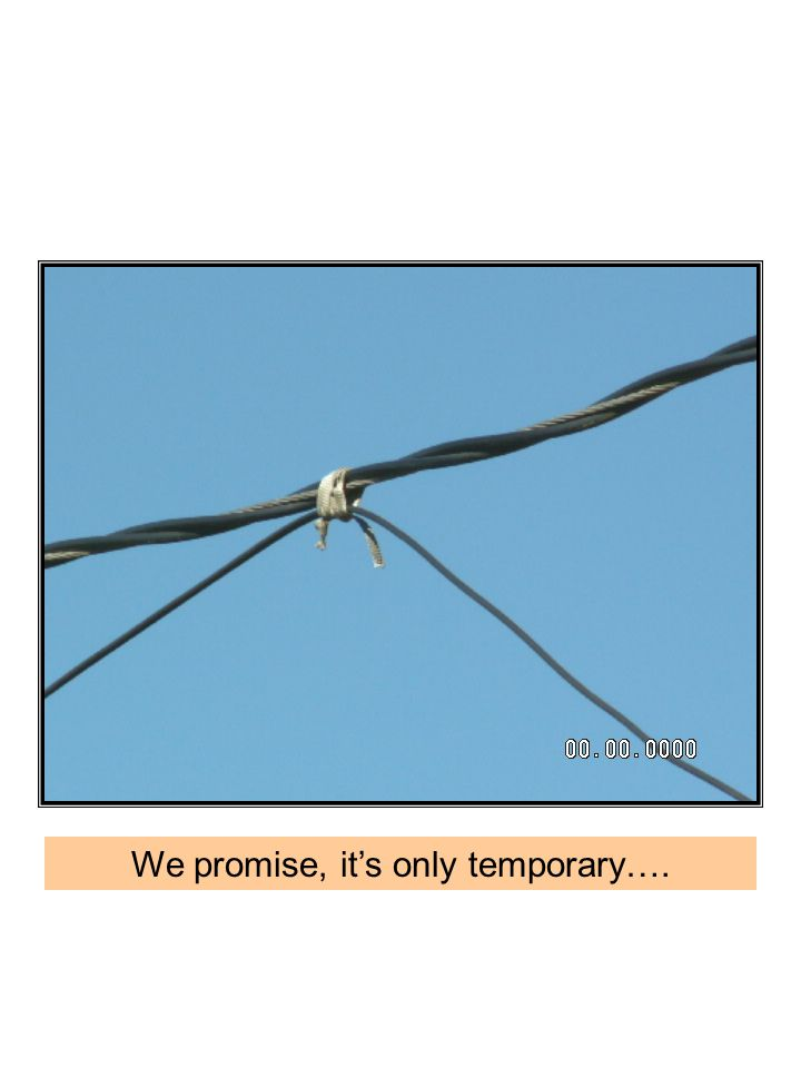 We promise, it's only temporary….