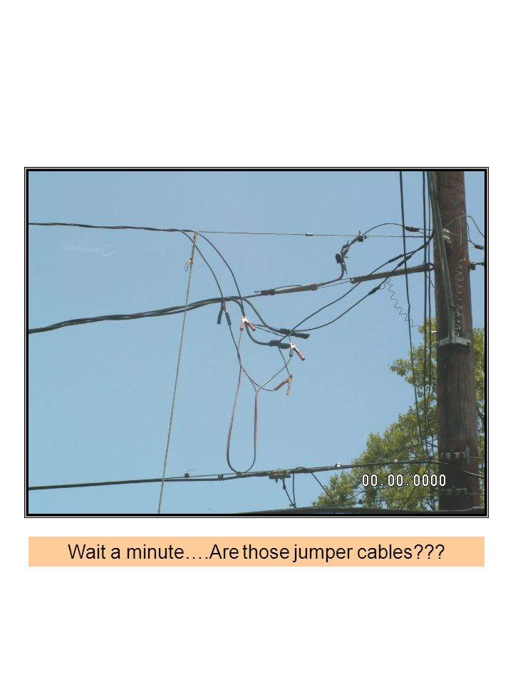 Wait a minute….Are those jumper cables???