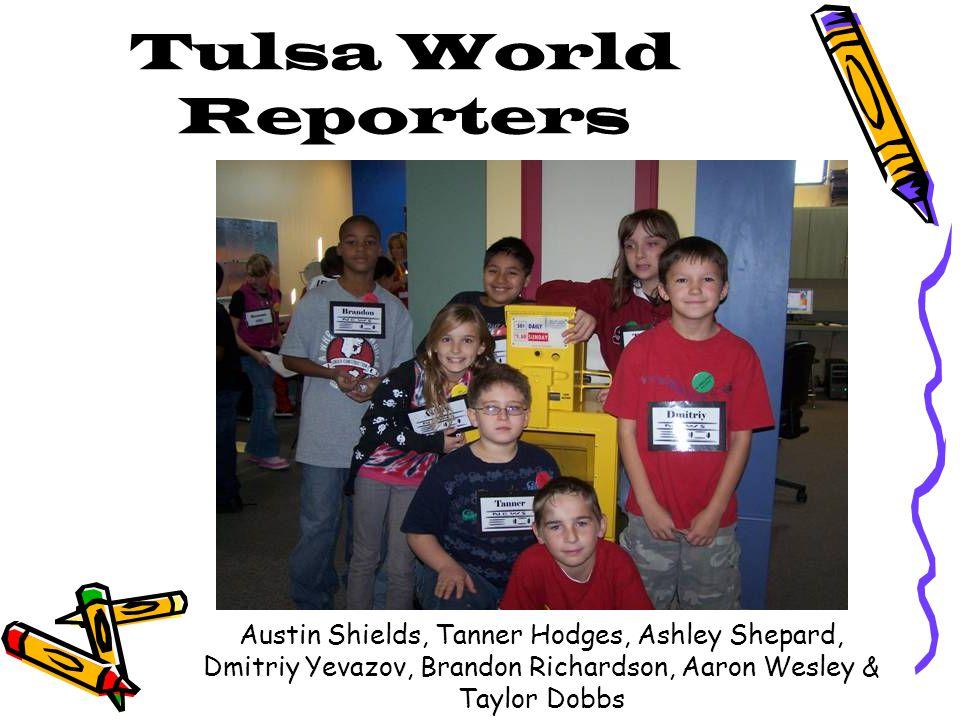 Tulsa World Reporters Austin Shields, Tanner Hodges, Ashley Shepard, Dmitriy Yevazov, Brandon Richardson, Aaron Wesley & Taylor Dobbs