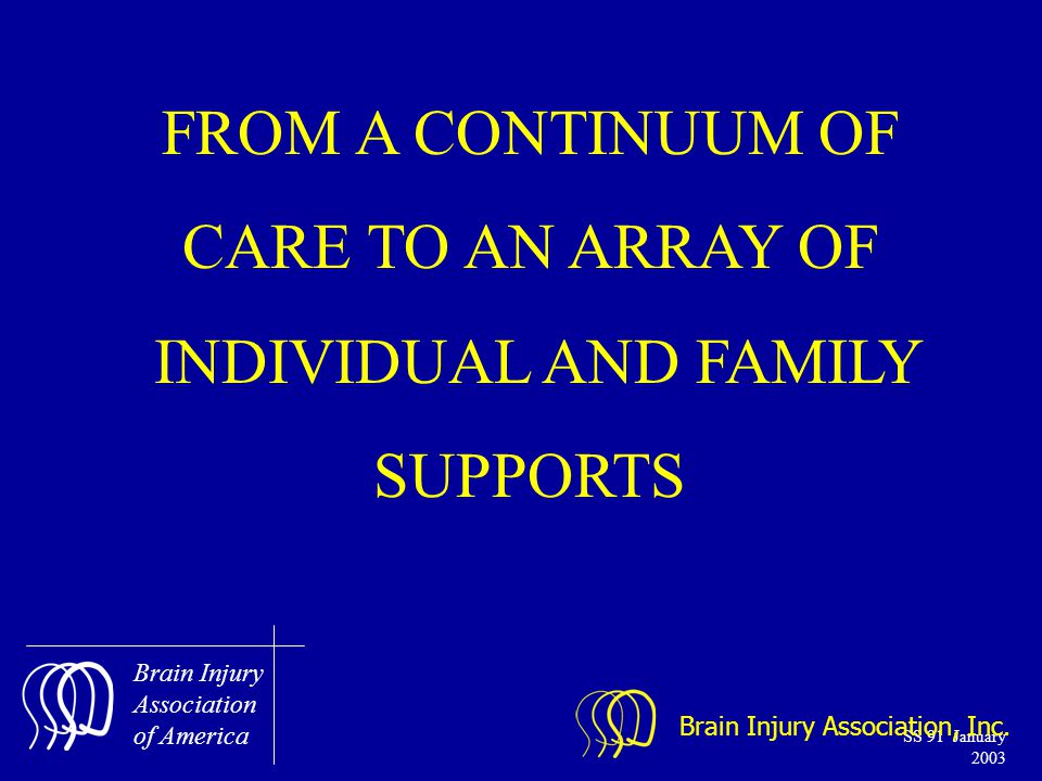 Brain Injury Association of America SS 91 January 2003 Brain Injury Association, Inc.