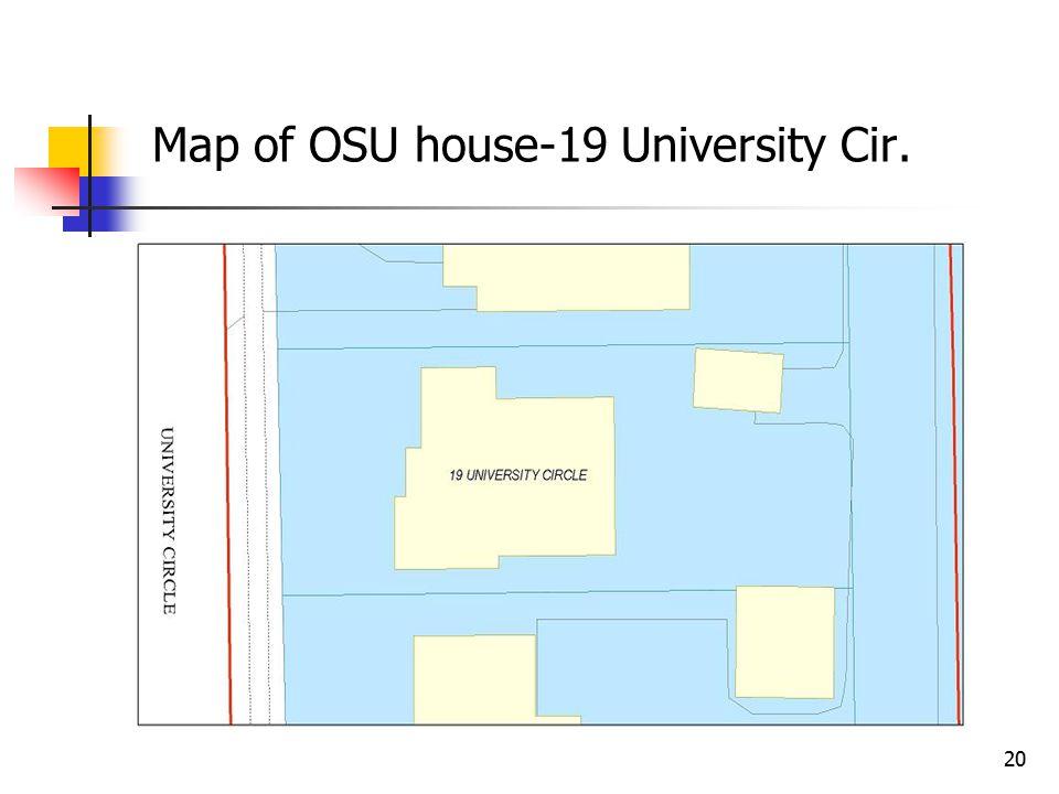 20 Map of OSU house-19 University Cir.