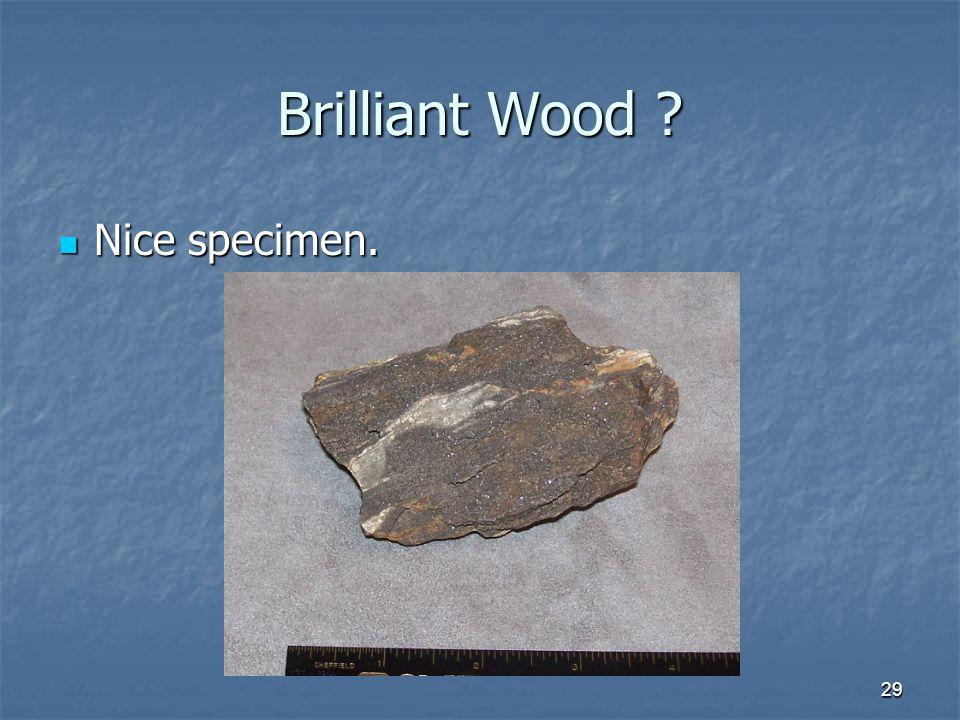 29 Brilliant Wood Nice specimen. Nice specimen.