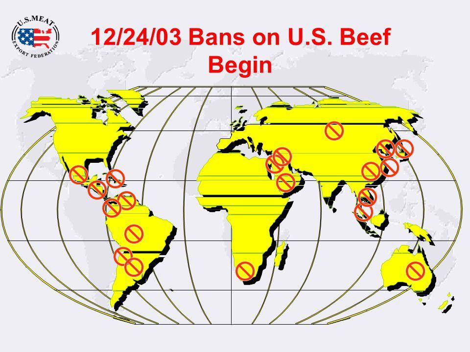 12/24/03 Bans on U.S. Beef Begin