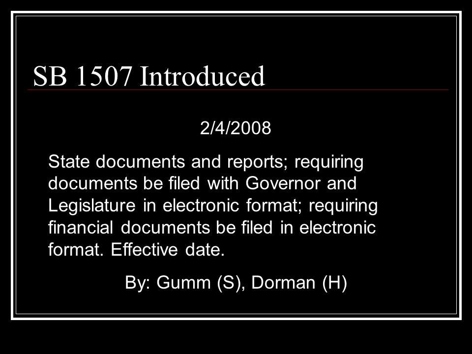 Legislative Process… …