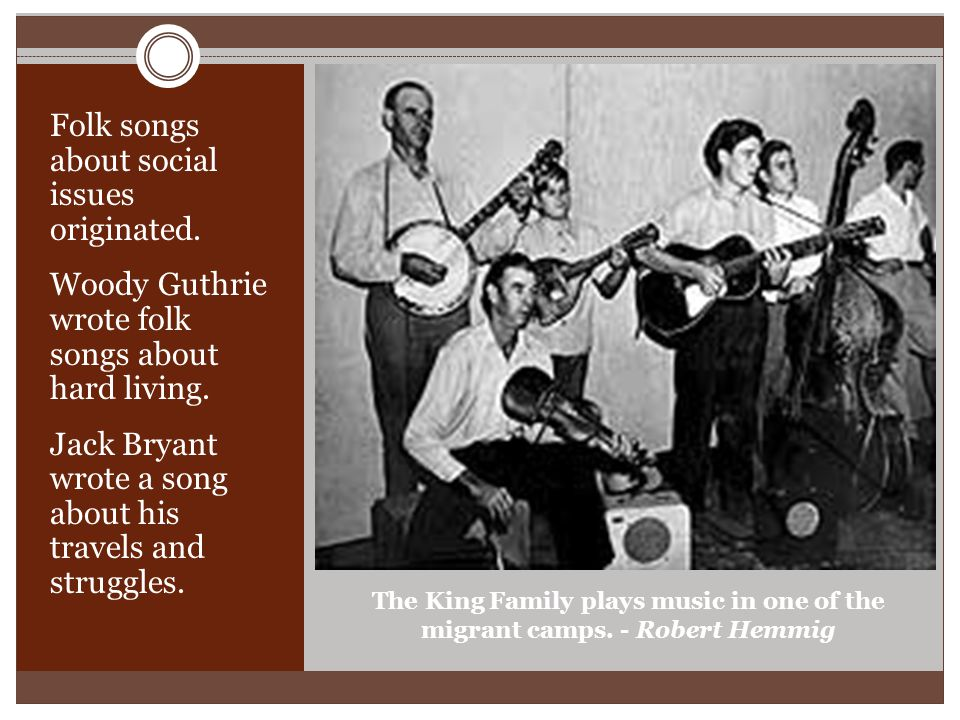The King Family plays music in one of the migrant camps.