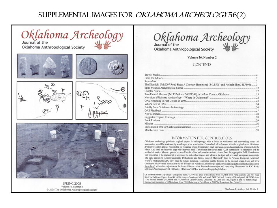 Supplemental images for Oklahoma archeology 56(2)