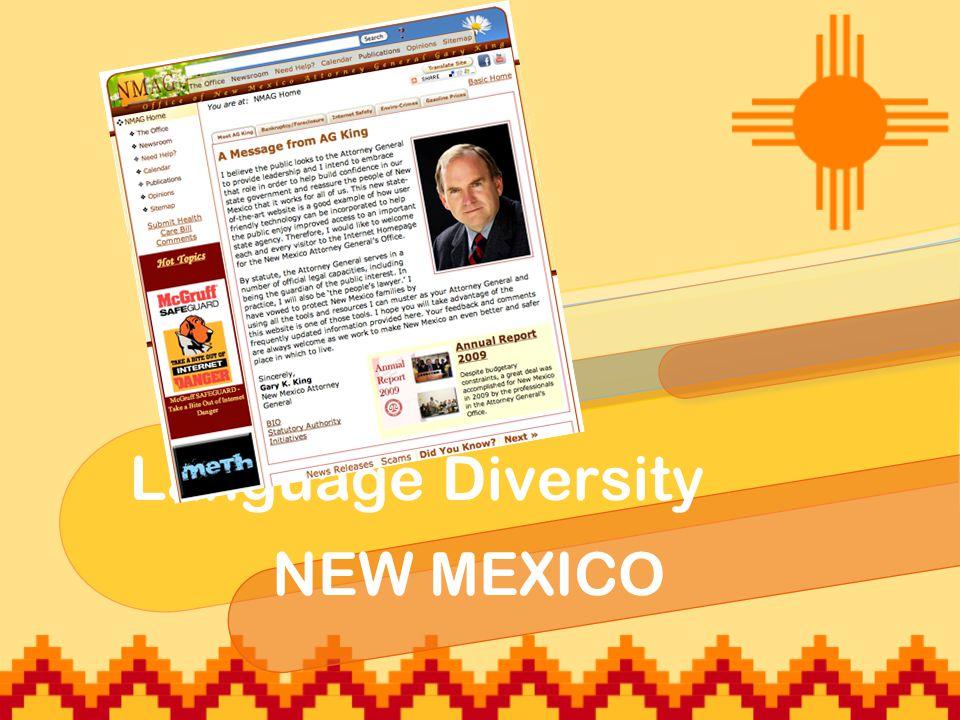 Language Diversity NEW MEXICO