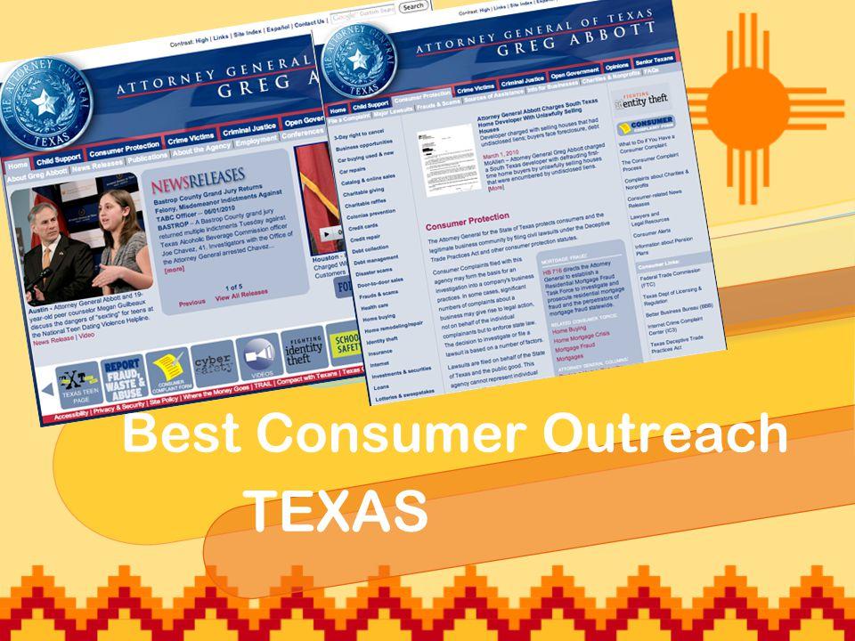 Best Consumer Outreach TEXAS
