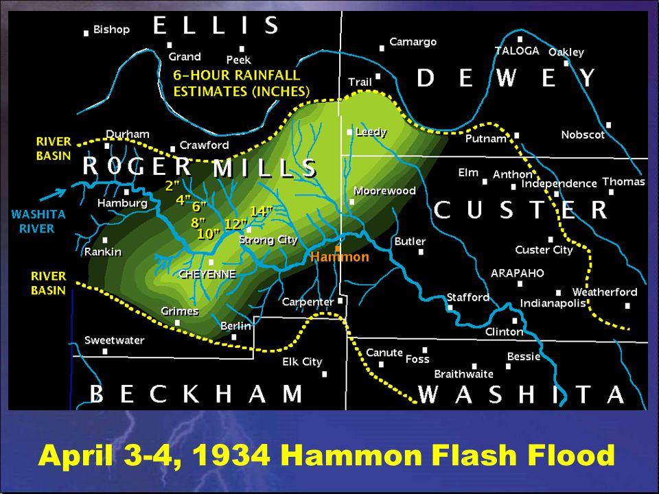 April 3-4, 1934 Hammon Flash Flood