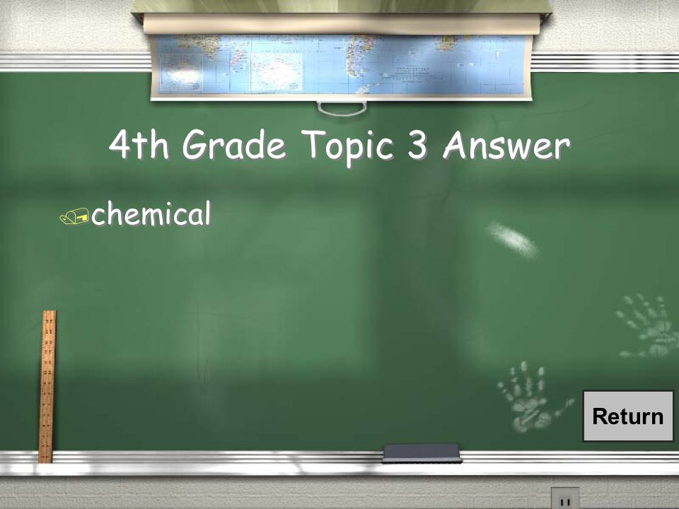 4th Grade Topic 3 Question / What type of change is photosynthesis