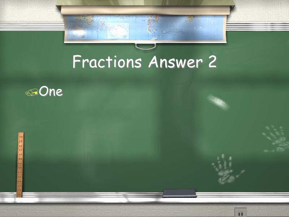 Math Vocabulary Answer 1 / Range