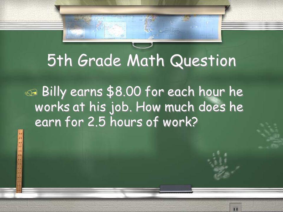 1,000,000 5th Grade Math 5th Grade Geography 4th Grade Geography 4th Grade Math 3rd Grade Life Science 3rd Grade CA History 2nd Grade Measurement 2nd