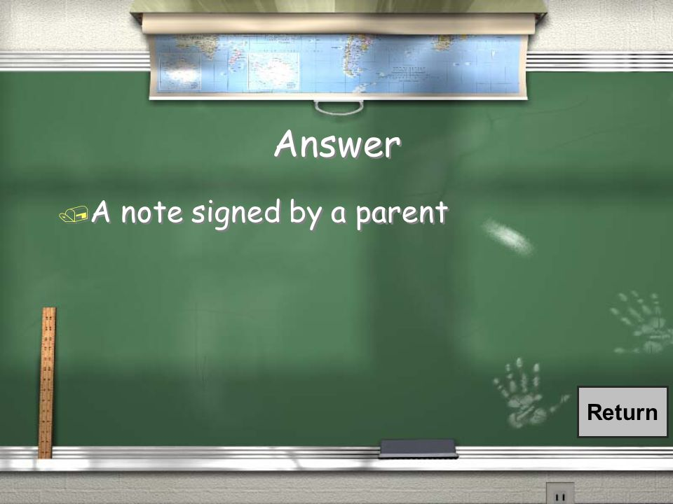 FAQ / If a student is absent from school, what should he/she bring to the attendance office when he/she returns