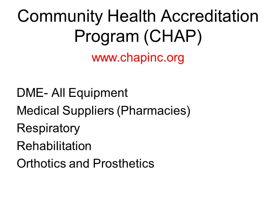 Commission on Accreditation of Rehabilitation Facilities (CARF) www.carf.org Rehabilitation Orthotics and Prosthetics