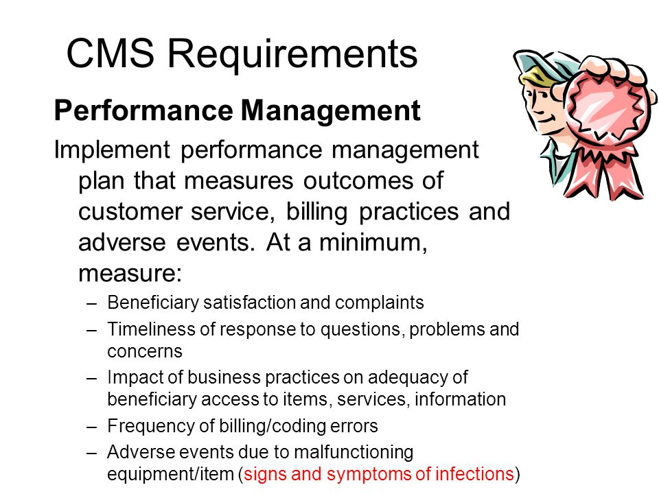 Math – Performance Management Performance Management is one of the main areas suppliers have difficulty with as they start the accreditation process T