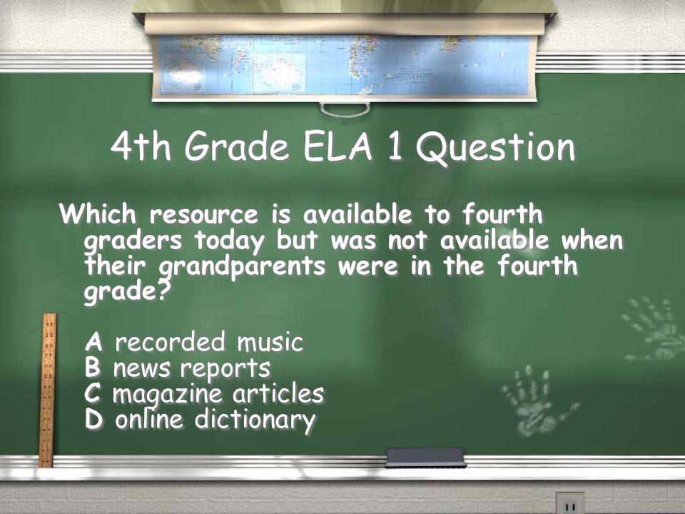 4th Grade Math 1 Answer A. 2, 8, 16 Return
