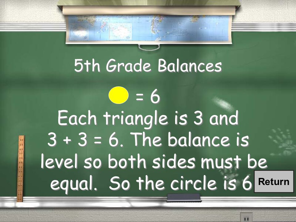 5th Grade Balances If each is worth 3, how much is the worth.