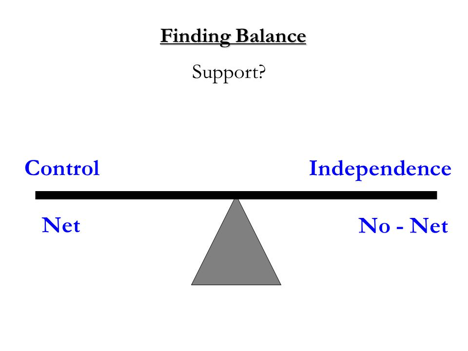 Finding Balance Support No - Net Independence Control Net