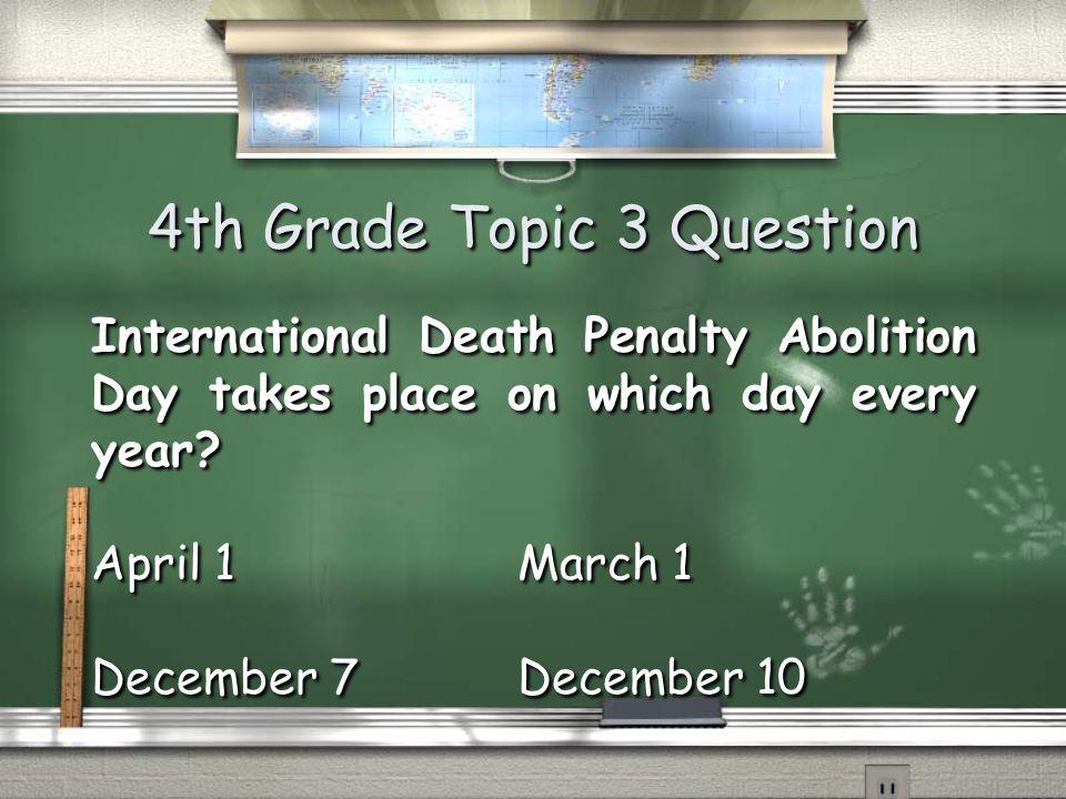 5th Grade Topic 2 Answer March 2005 Return