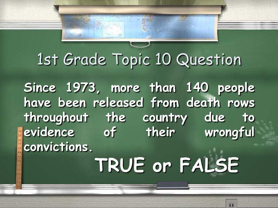 1st Grade Topic 9 Answer TRUE Return