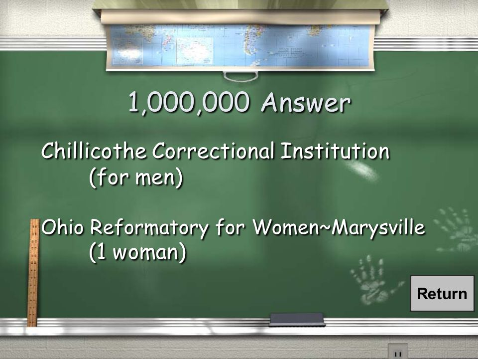 1,000,000 Question Where is Ohio's Death Row located.