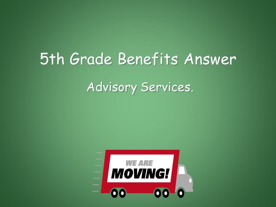 5th Grade Benefits If the Agency determines that a person occupying property adjacent to the real property acquired for the project is caused substantial injury because of such acquisition, it may offer these to such person.