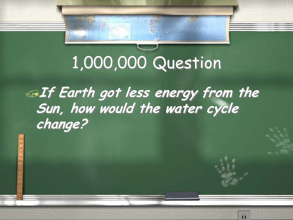 Million Dollar Question on water