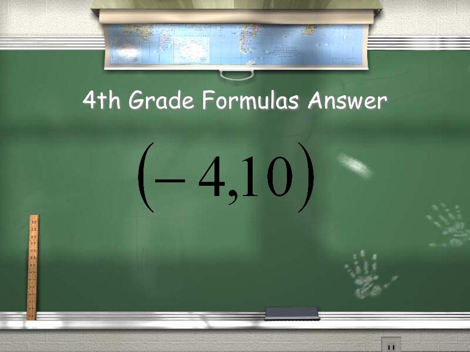 4th Grade Formulas??.
