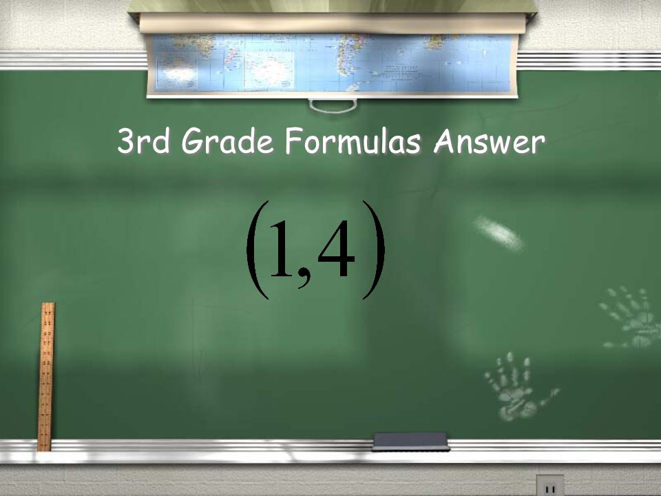 3rd Grade Formulas???