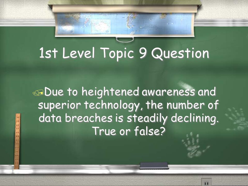 2nd Level Topic 8 Answer / No, but it should be. / Don't share passwords.