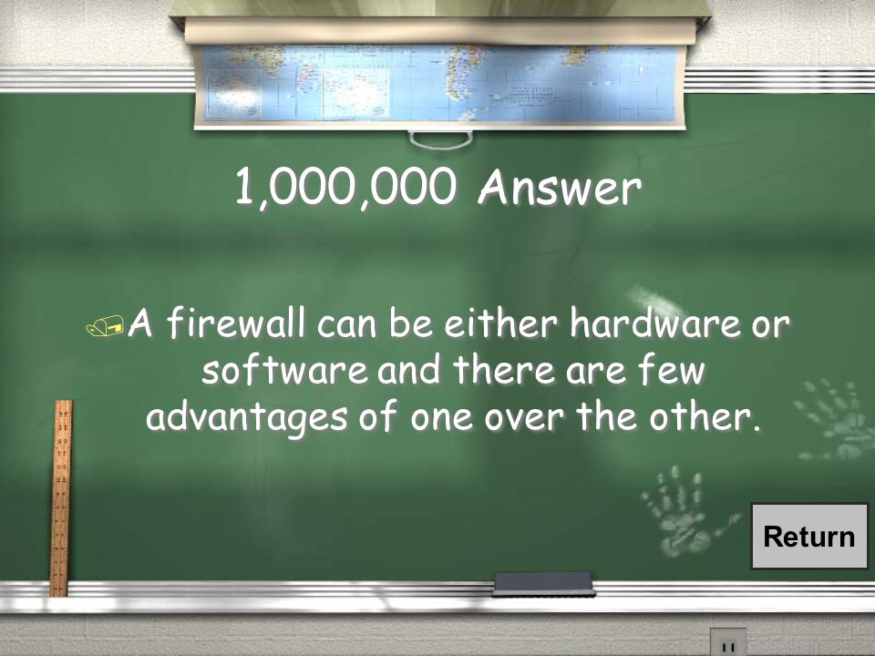1,000,000 Question / Is a firewall hardware, software or can it be either