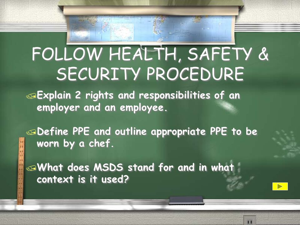 FOLLOW HEALTH, SAFETY & SECURITY PROCEDURE / There are 4 costs associated with workplace injury.