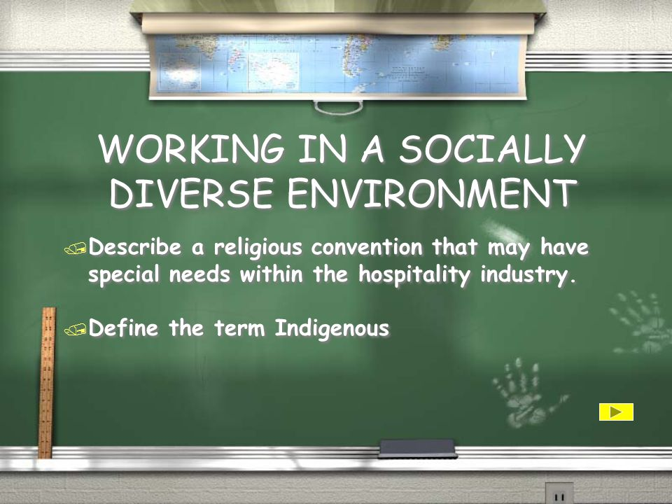 WORKING IN A SOCIALLY DIVERSE ENVIRONMENT / List and briefly explain 3 forms of legislation that exist in regard to working in a socially diverse environment / List expectations that exist from the following cultures: / Asian / European / American / UK / NZ / List and briefly explain 3 forms of legislation that exist in regard to working in a socially diverse environment / List expectations that exist from the following cultures: / Asian / European / American / UK / NZ