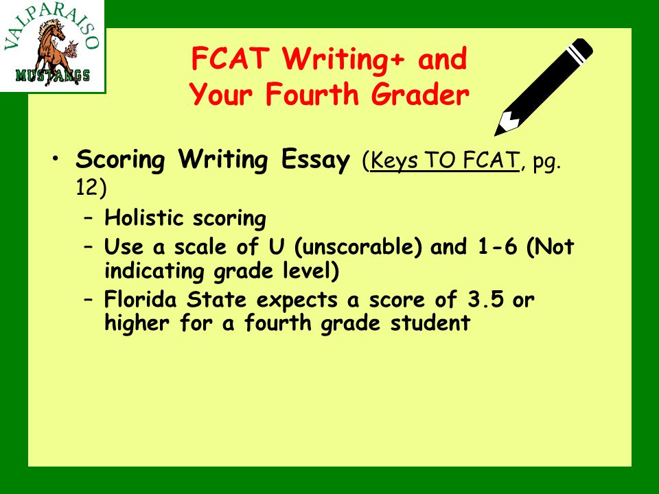 FCAT Writing+ and Your Fourth Grader Scoring Writing Essay (Keys TO FCAT, pg.