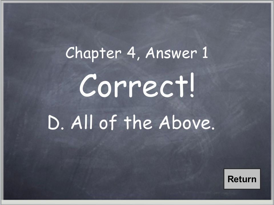 Chapter 4, Question 1 Violations of the contiguity principle are all too common.