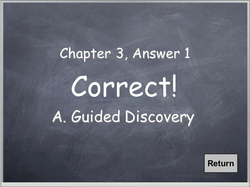 Chapter 1, Question 1 Three eLearning Architectures are receptive, directive, and: A.