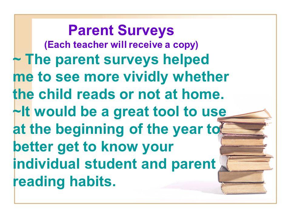 Get Parents Involved.