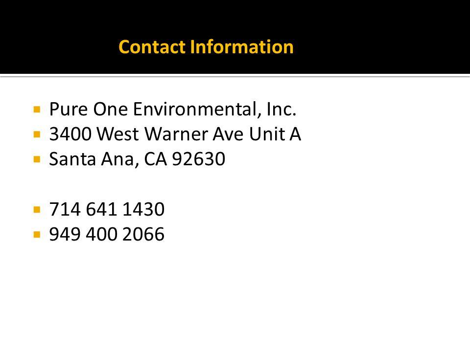 Pure One Environmental, Inc.