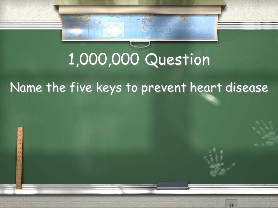 Million Dollar Question Grade Level Topic 11 Heart Disease