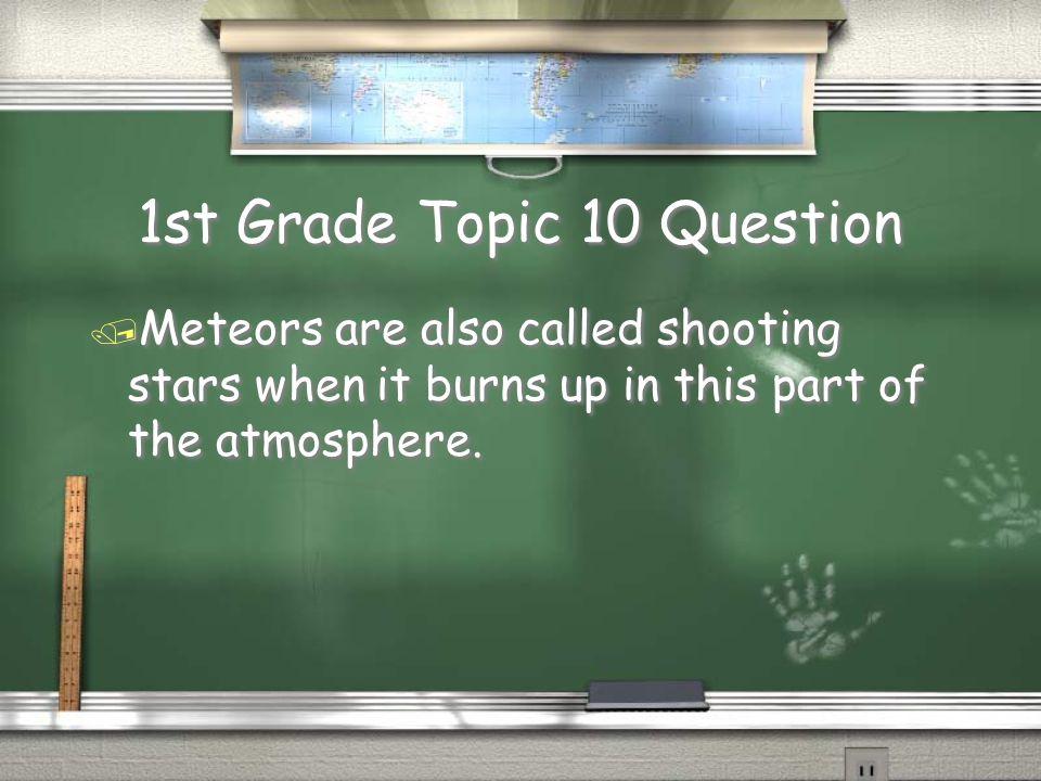 1st Grade Topic 9 Answer / Oxygen Return